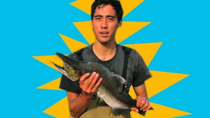 En Alaska on pêche comme ça
