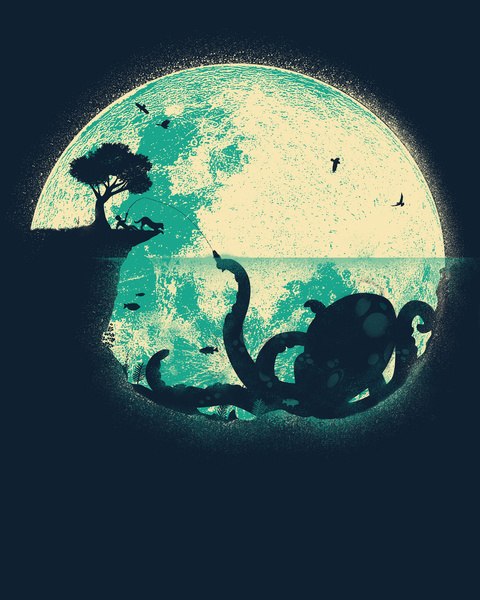 The moon and the Octopus