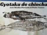 Gyotaku de Chinchard avec Nicolas Perruche & Pêche Tonton
